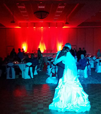 Sheboygan wedding beautiful uplighting up lighting weddings dj dee jay
